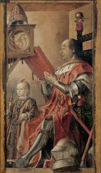 Federico da Montefeltro e il figlio Guidobaldo in un dipinto di Pedro Berruguete.