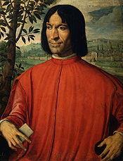 Lorenzo de' Medici in un ritratto di Girolamo Macchietti.