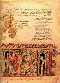 Un codice greco della Biblioteca Apostolica Vaticana in corso di digitalizzazione.