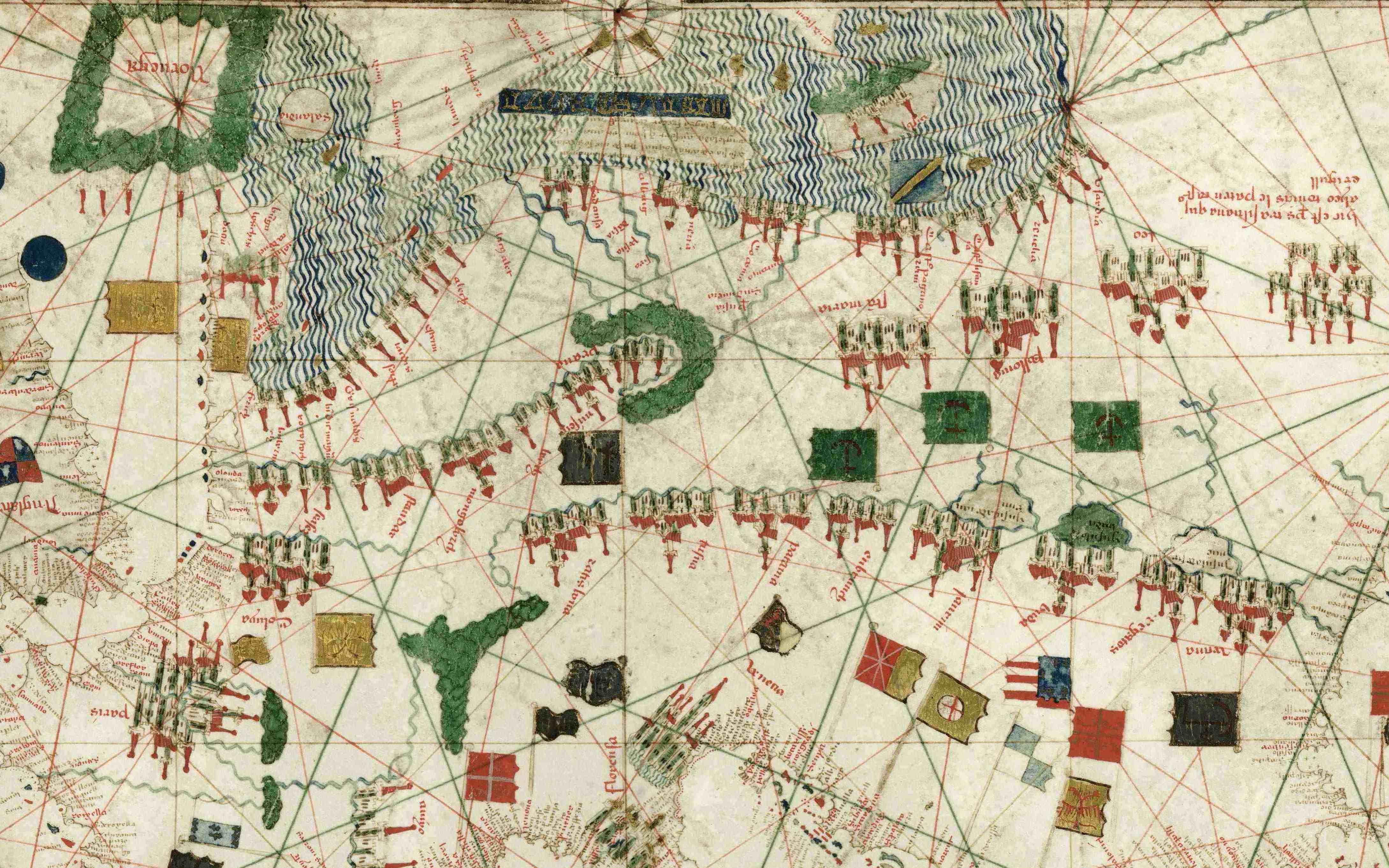 La Carta Náutica di Gabriel de Vallseca riprodotta da Lumenartis in 950 copie numerate.