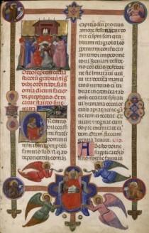 Un foglio del Pontificale bolognese scoperto a Autun.