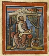 Un particolare dei Vangeli di Loisel della BnF.