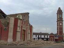 Una veduta del centro di Finale Emilia dopo il terremoto del maggio 2012.