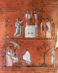 Un foglio del Codex Purpureus Rossanensis.