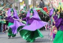 La Parata di San Patrizio a Dublino.