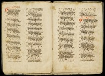 Uno dei primi codici manoscritti della Divina Commedia in mostra a Palazzo Madama a Torino.