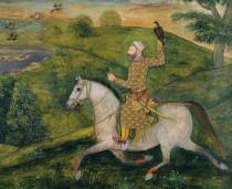Allavardi Khan a cavallo, miniatura in mostra alla British Library di Londra.