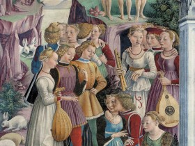 Aprile: Trionfo di Venere, Il giardino d'amore