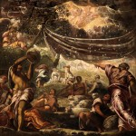 Tintoretto, La caduta della manna, soffitto salone, Scuola grand