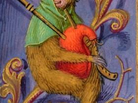 Uomo-scimmia con cornamusa