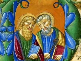 Santi Pietro e Paolo, frammento da Corale