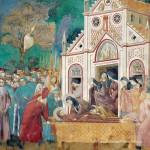 23 Il commiato di santa Chiara dalle spoglie di san Francesco