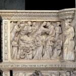 Annunciazione, Visitazione, Nascita del Battista e Imposizione del nome - Pergamo di Giovanni Pisano