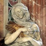 Gian Lorenzo Bernini, Monumento funebre di Alessandro VII, particolare con La Verità