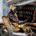 Gian Lorenzo Bernini, Monumento funebre di Urbano VIII, La morte scrive il nome del pontefice