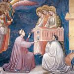 Giotto, Enrico Scrovegni presenta il modello della Cappella a Santa Maria della Carità