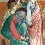 Giotto, La lavanda dei piedi, particolare