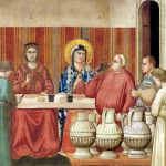 Giotto, Le nozze di Cana, particolare