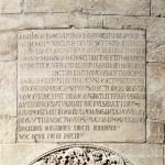 Iscrizione in onore di Lanfranco