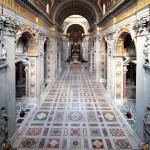 La navata centrale da est