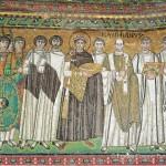 La processione di Giustiniano e del suo seguito