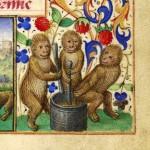 Miniatura tratta dal Libro d'Ore NAL 3115 (XV secolo), Bibliothèque nationale de France, Parigi