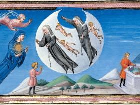 Miniatura tratta dalla Divina Commedia di Alfonso d'Aragona