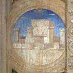 Piero della Francesca, Sigismondo Malatesta inginocchiato davanti a san Sigismondo, particolare