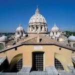 Terrazza - In primo piano il colmo della navata centrale