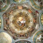 Veduta della cupola e del tamburo