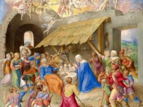 Natività, miniatura tratta dal Lezionario Farnese