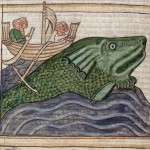 Balena gigante, Miscellanea teologica di Peraldo (XIII secolo), British Library