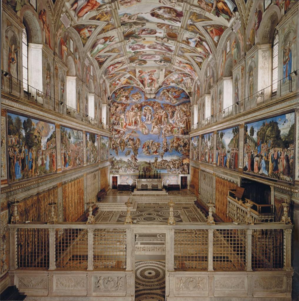 Cappella sistina prima di michelangelo for Decorazione quattrocentesca della cappella sistina