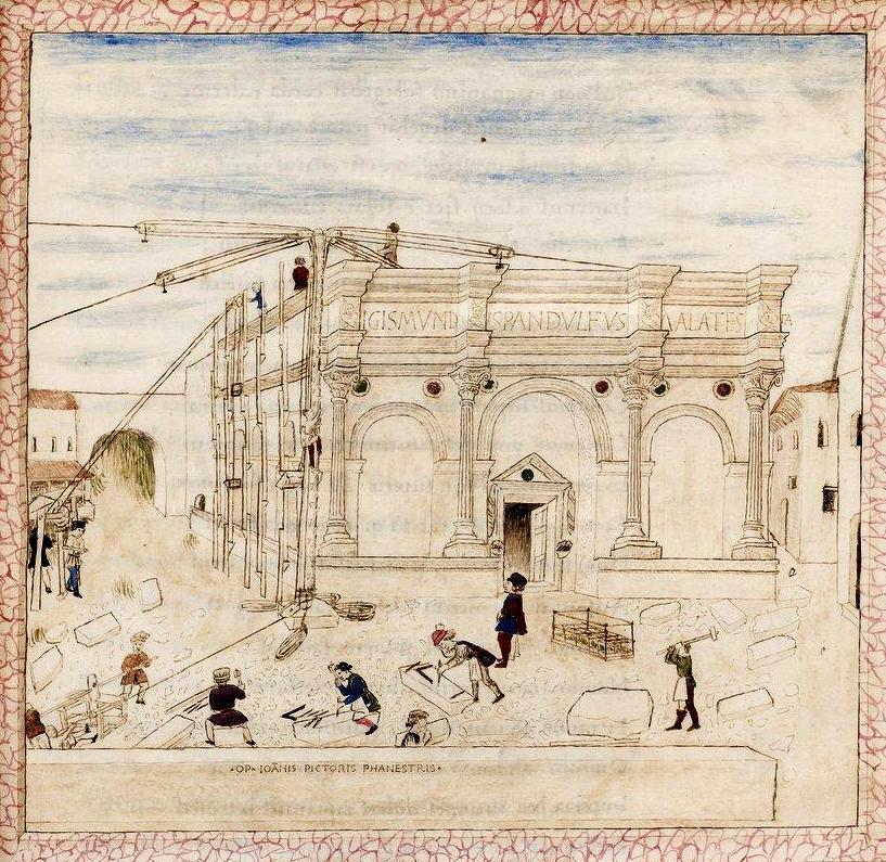 La costruzione del tempio malatestiano di rimini folia for Costruzione scantinato di scantinati