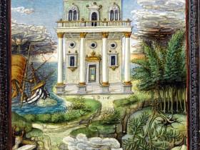Edificio con Petrarca alla finestra