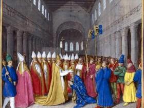 Fouquet, L'incoronazione di Carlo Magno in San Pietro