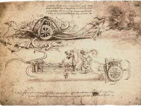 Leonardo, Studi di carri d'assalto
