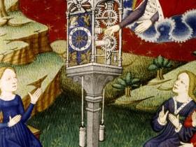 La Dea Temperanza carica l'orologio, Épître d'Othéa (1450), Bodleian Library