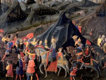 """Zanobi Strozzi, """"Viaggio del mago Baldassarre a cavallo col suo seguito"""""""