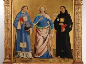 12. Antoniazzo Romano, San Vincenzo, Santa Caterina e Sant'Antonio da Padova IMMAGINE GUIDA