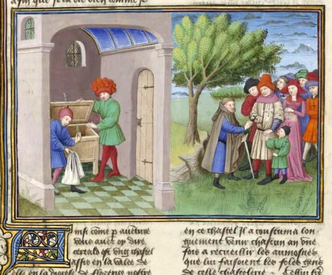 Frate Cipolla promette d'esporre una piuma d'arcangelo, ma mostra il carbone di San Lorenzo. Beffa alla fine chi l'ha beffato