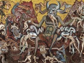 Mosaici della cupola. Il Giudizio Finale. Ambito di Coppo di Marcovaldo (1260-1270 ca). I dannati e l'Inferno