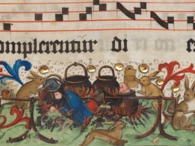 La vendetta dei conigli - Codices musici (1511-1512), Württembergische Landesbibliothek, Stoccarda