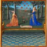 A caccia d'amore - 'Livre du Coeur d'amour épris' (XV secolo), Bibliothèque nationale de France, Parigi.