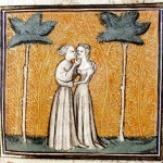 Kiss me -  'Roman de la Rose' (fine XIV secolo), Bodleian Library, Oxford