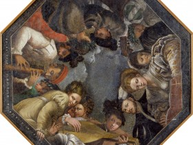 """32.Nicolò dell'Abate, """"Figure che si dilettano in musica"""", 1540-43, Modena, Galleria Estense"""