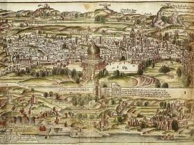 Veduta, Terra Santa, 1486