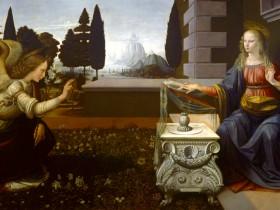 Leonardo, Annunciazione (Uffizi)