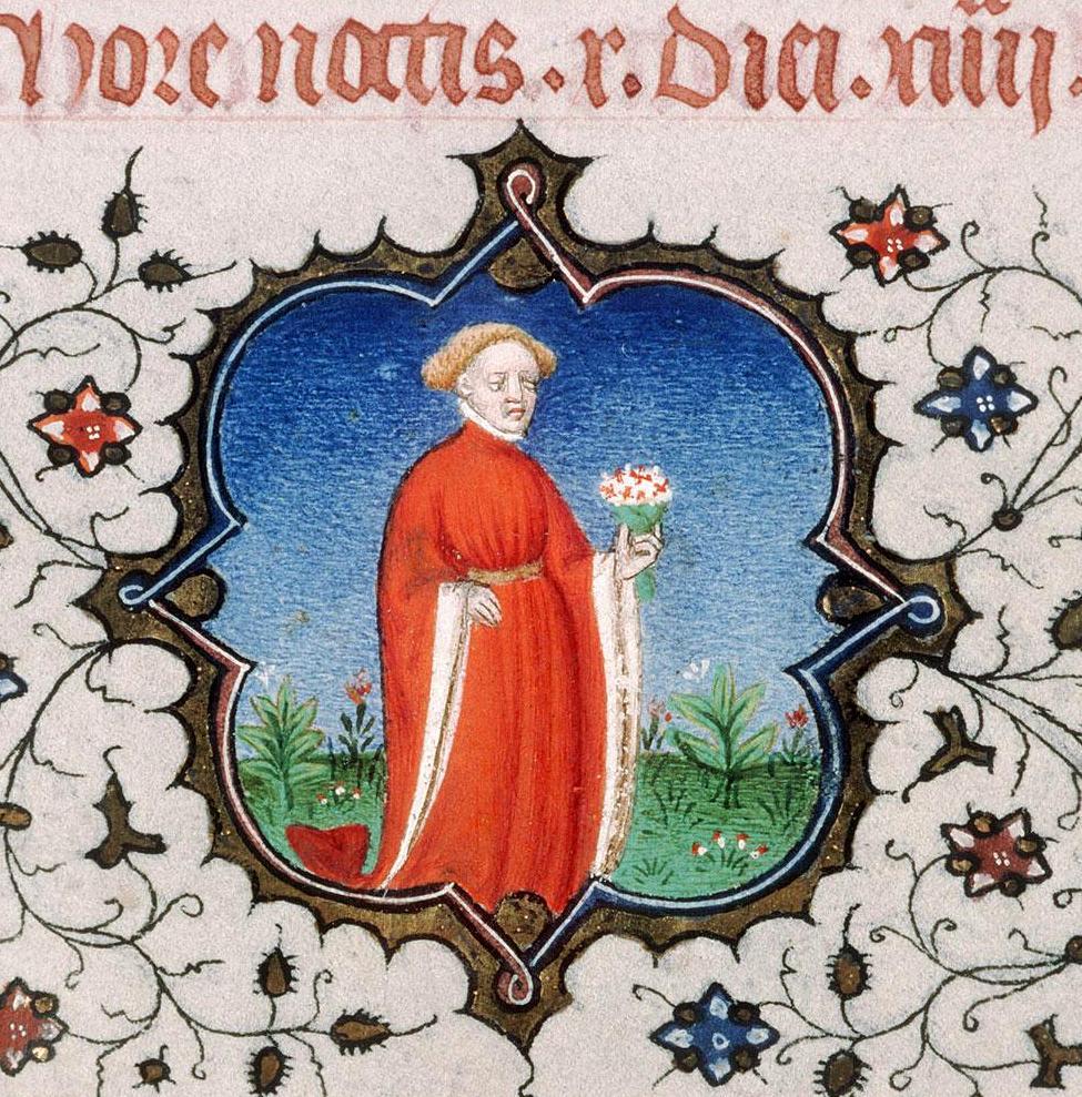 Il mese cortese l 39 iconografia di aprile nel medioevo for Disegni del mazzo sul basamento degli scioperi