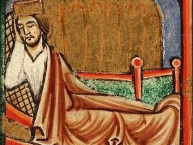Il sogno del Faraone -Bibbia illustrata (Francia, 1190-1200),  Koninklijke Bibliotheek